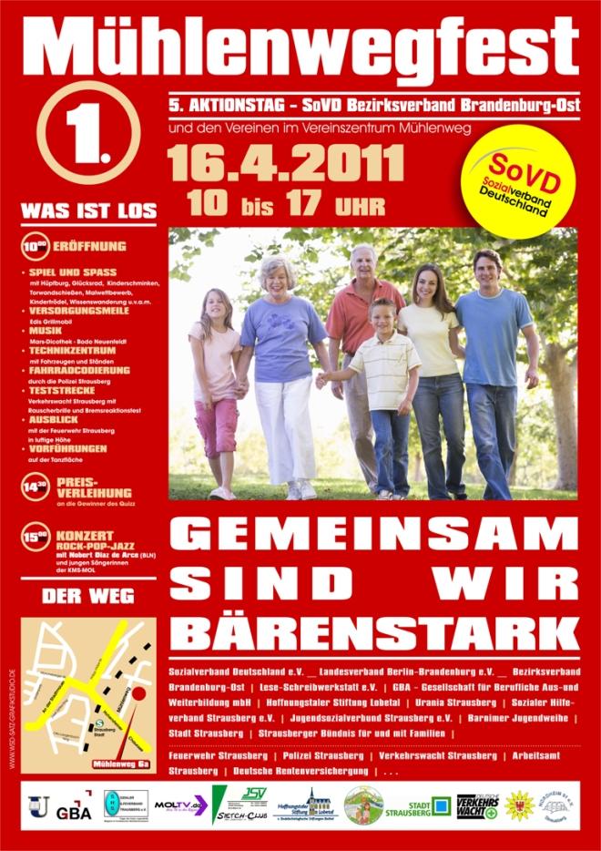 Plakat - 5. Aktionstag SoVD KV Brandenburg-Ost
