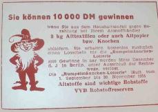 Rumpelmännchen-Lotterie 1954