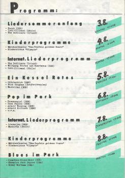 Liedersommer der FDJ #4 1986 - Programmheft S.1