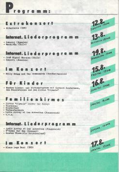 Liedersommer der FDJ #4 1986 - Programmheft S.3