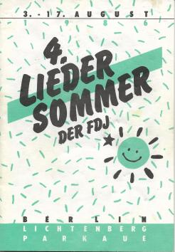 Liedersommer der FDJ #4 1986 - Programmheft