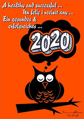 Eule Gruß 2020_30x42